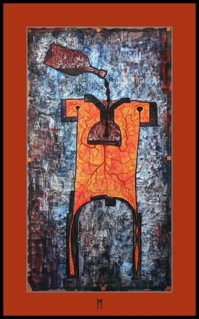 Alkoholikum[alkoholism]Akryl,90x50cm,06