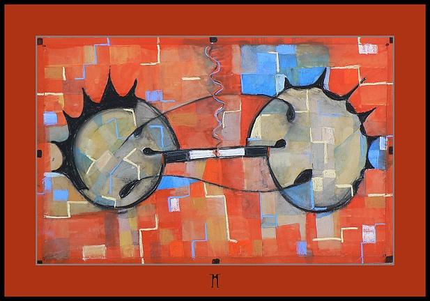 I smoke, I smoke,watercolour painting,akvarel,50x32cm,06
