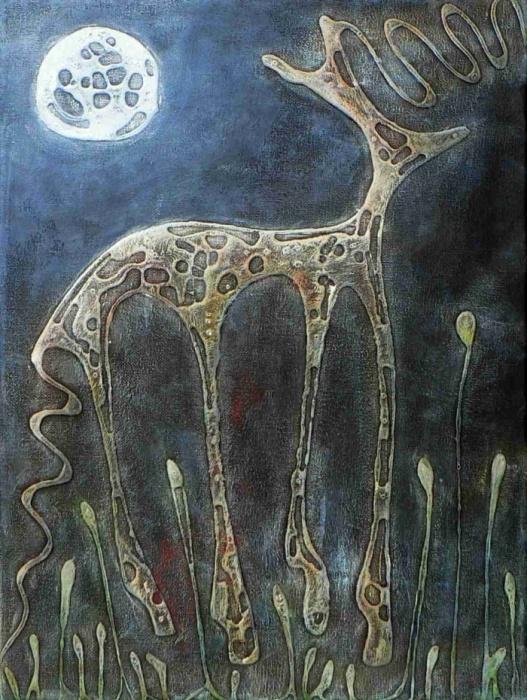 Moon,Acrylic,40x30cm,09