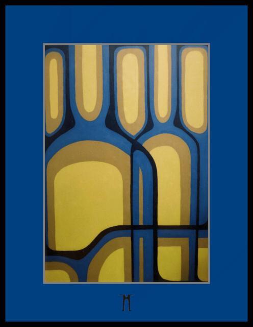 Zátišie z fliaš[Still life from tube]akryl,100x70cm,98